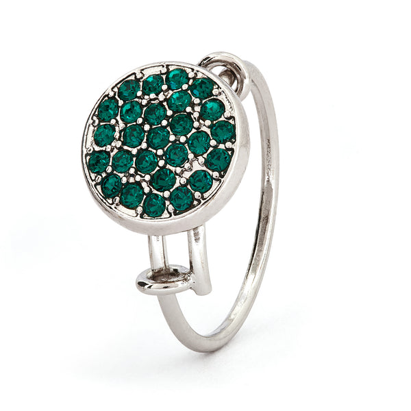 Emerald Crystal Ring - Stevens Jewellers Letterkenny Donegal