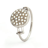 Glass Pearl Crystal Ring - Stevens Jewellers Letterkenny Donegal