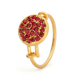 Ruby Crystal Ring - Stevens Jewellers Letterkenny Donegal