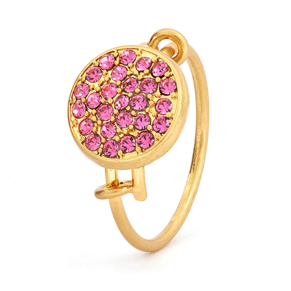 Pink Tourmaline Crystal Ring - Stevens Jewellers Letterkenny Donegal