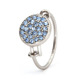 Blue Topaz Crystal Ring - Stevens Jewellers Letterkenny Donegal