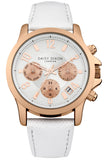 Adriana Multidial with White Leather Strap - Stevens Jewellers Letterkenny Donegal