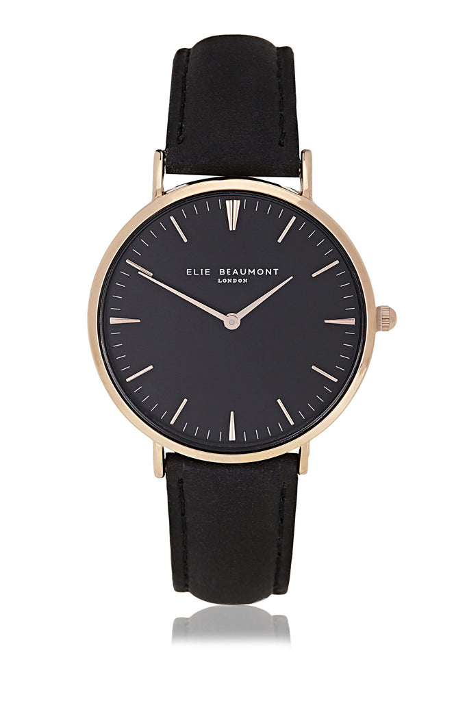 Elie Beaumont Oxford Large Ladies Watch - Black on Black - Stevens Jewellers Letterkenny Donegal