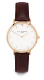 Elie Beaumont Oxford Large Ladies Watch - Brown Nappa Leather - Stevens Jewellers Letterkenny Donegal