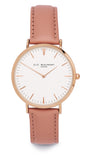 Elie Beaumont Oxford Large Ladies Watch - Pink Nappa Leather - Stevens Jewellers Letterkenny Donegal