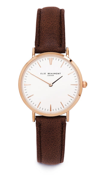 Elie Beaumont Oxford Small Ladies Watch - Brown Leather - Stevens Jewellers Letterkenny Donegal