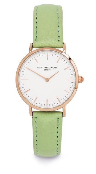 Elie Beaumont Oxford Small Ladies Watch - Lime Nappa Leather - Stevens Jewellers Letterkenny Donegal