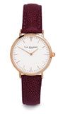 Elie Beaumont Oxford Small Ladies Watch - Pink Nappa Leather - Stevens Jewellers Letterkenny Donegal
