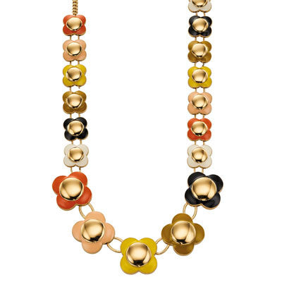 Orla Kiely Daisy Chain Long Flower Necklace Multicoloured - Stevens Jewellers Letterkenny Donegal
