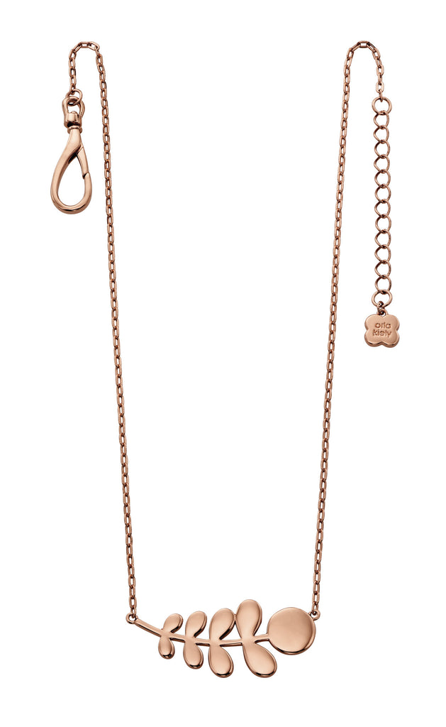 Orla Kiely Buddy Rose Gold Stem Pattern Necklace - Stevens Jewellers Letterkenny Donegal