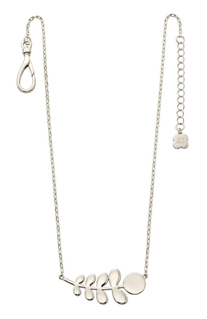 Orla Kiely Buddy Silver Stem Pattern Necklace - Stevens Jewellers Letterkenny Donegal