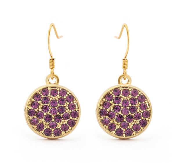 Amethyst Crystal Drop Earrings - Stevens Jewellers Letterkenny Donegal