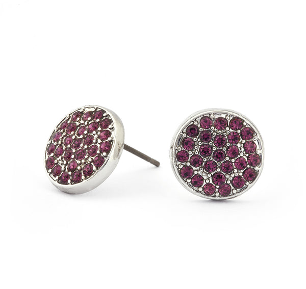 Amethyst Crystal Stud Earrings - Stevens Jewellers Letterkenny Donegal