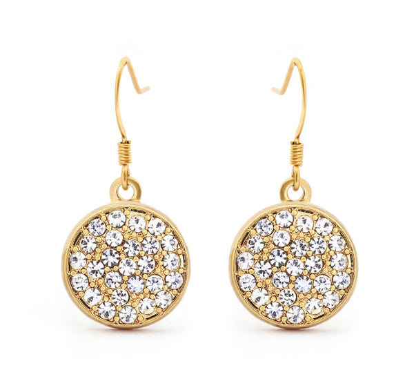Diamond Crystal Drop Earring - Stevens Jewellers Letterkenny Donegal