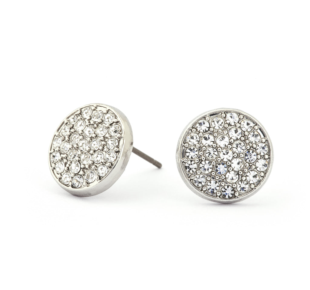 Diamond Crystal Stud Earring - Stevens Jewellers Letterkenny Donegal