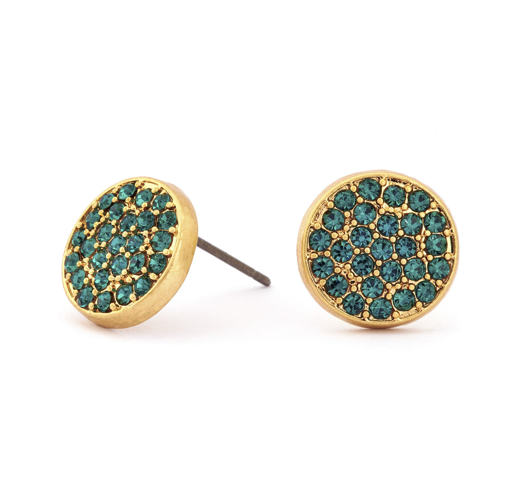 Emerald Crystal Stud Earrings - Stevens Jewellers Letterkenny Donegal