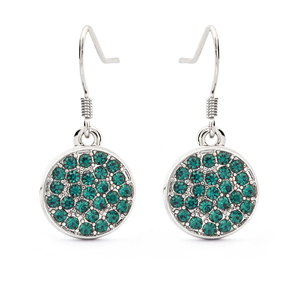 Emerald Crystal Drop Earrings - Stevens Jewellers Letterkenny Donegal