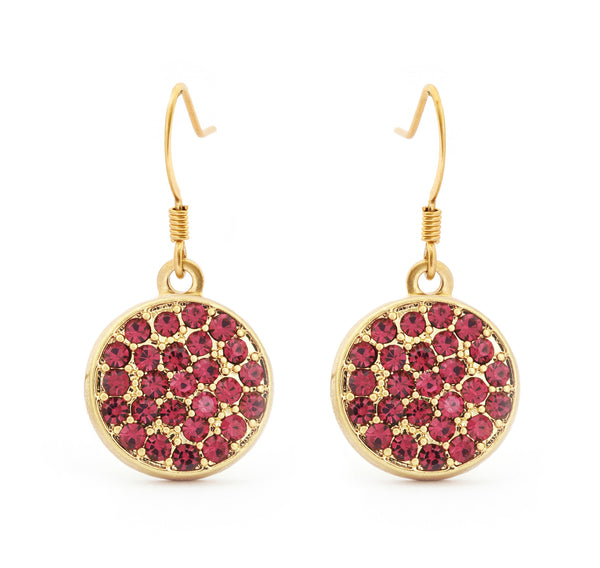 Ruby Crystal Drop Earrings - Stevens Jewellers Letterkenny Donegal