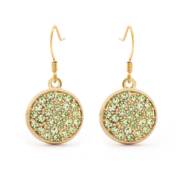 Peridot Crystal Drop Earring - Stevens Jewellers Letterkenny Donegal