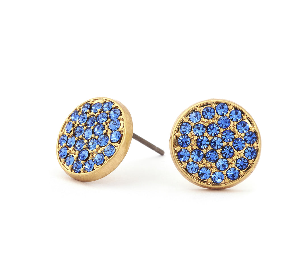 Sapphire Crystal Stud Earrings - Stevens Jewellers Letterkenny Donegal