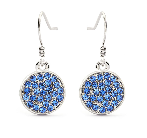 Sapphire Crystal Drop Earrings - Stevens Jewellers Letterkenny Donegal