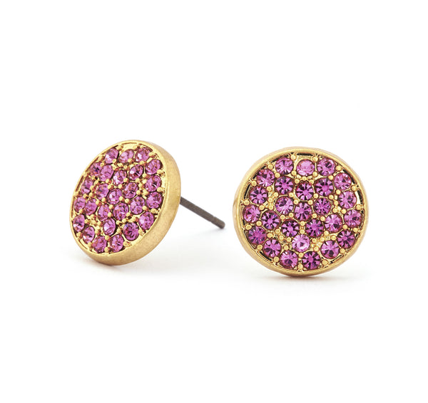 Pink Tourmaline Crystal Stud Earrings - Stevens Jewellers Letterkenny Donegal