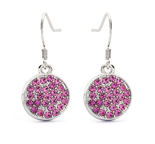 Pink Tourmaline Crystal Drop Earrings - Stevens Jewellers Letterkenny Donegal