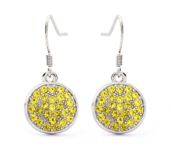Citrine Crystal Drop Earrings - Stevens Jewellers Letterkenny Donegal