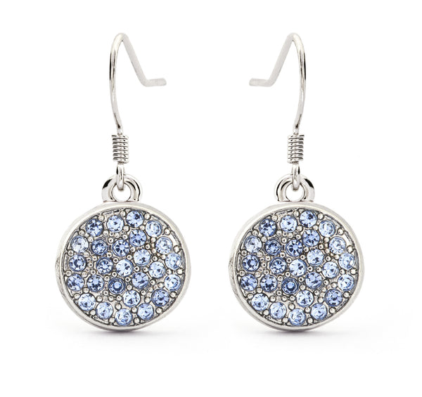 Blue Topaz Crystal Drop Earrings - Stevens Jewellers Letterkenny Donegal