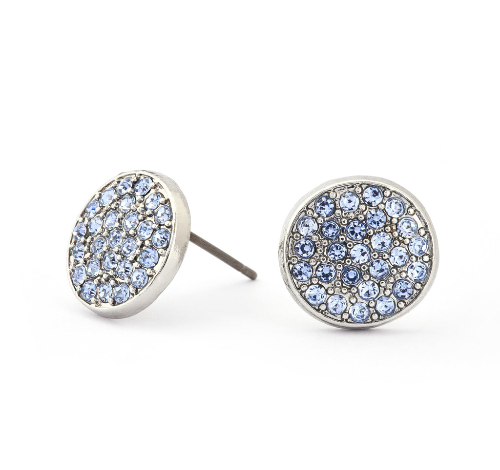 Blue Topaz Crystal Stud Earrings - Stevens Jewellers Letterkenny Donegal