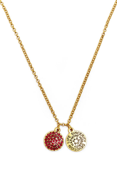 Ruby Crystal Necklace - Stevens Jewellers Letterkenny Donegal
