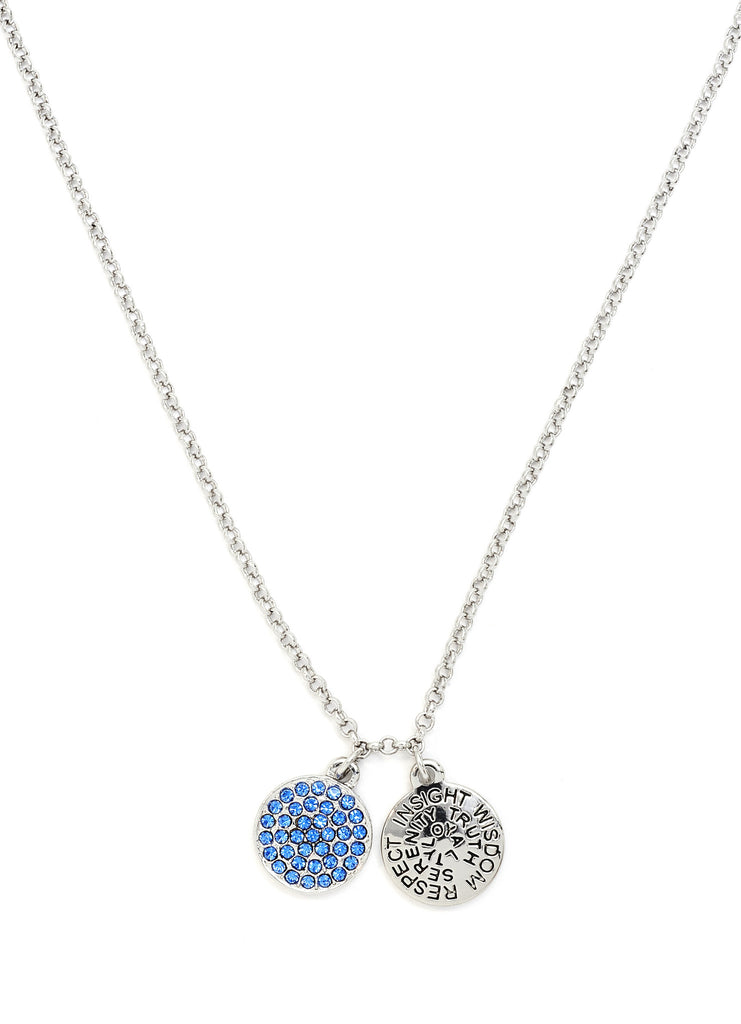 Sapphire Crystal Necklace - Stevens Jewellers Letterkenny Donegal