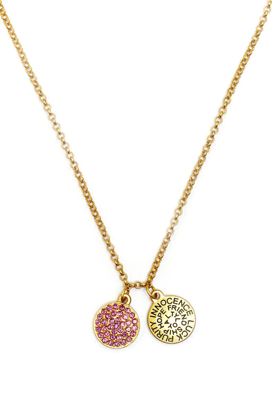 Pink Tourmaline Crystal Necklace - Stevens Jewellers Letterkenny Donegal