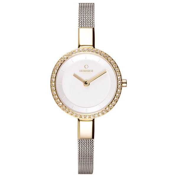 Obaku Siv Glimt Gold-Bi Women's Wristwatch