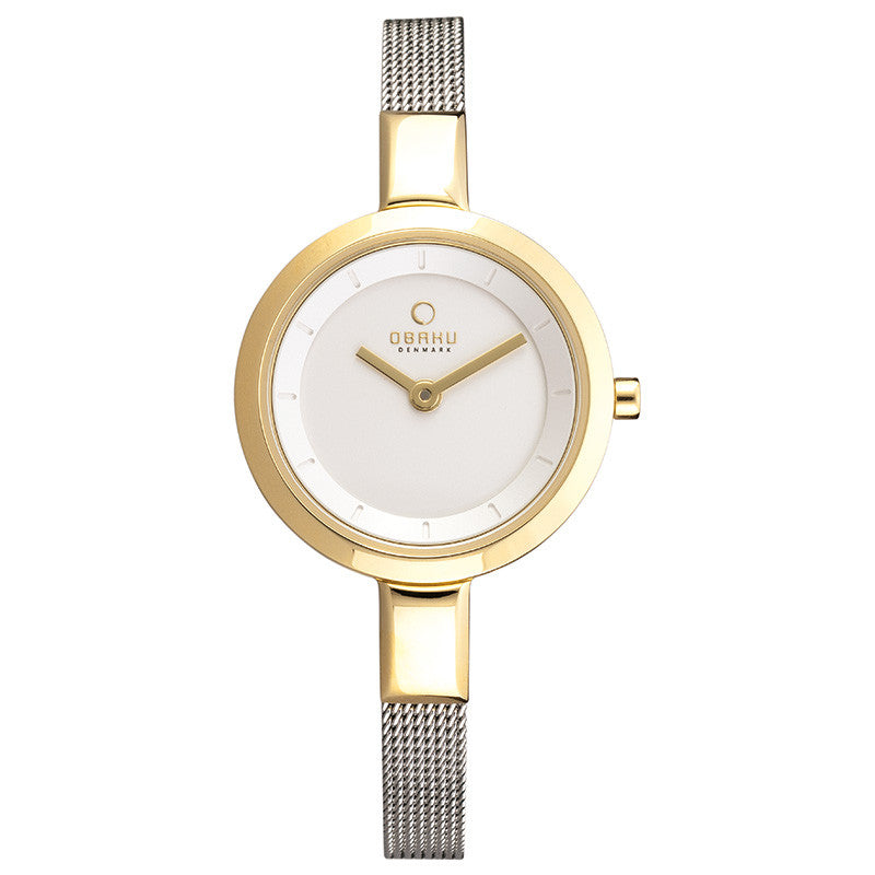 Obaku Siv Gold-Bi Women's Wristwatch - Stevens Jewellers Letterkenny Donegal