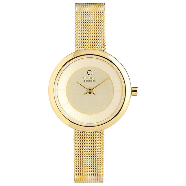 Obaku Stille Gold Women's Wristwatch - Stevens Jewellers Letterkenny Donegal