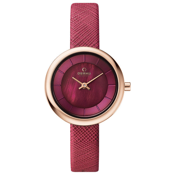 Obaku Stille Cherry Women's Wristwatch