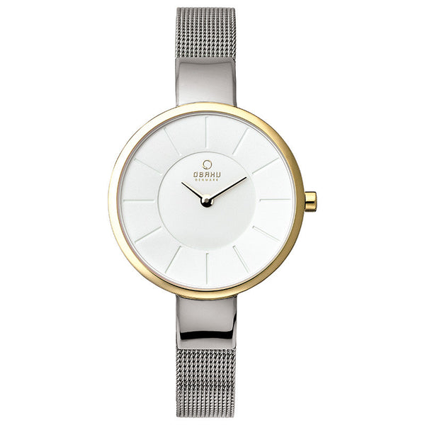 Obaku Sol Gold Bi Women's Wristwatch