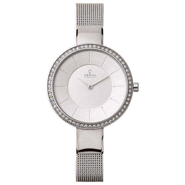 Obaku Sol Glimt Steel Women's Wristwatch