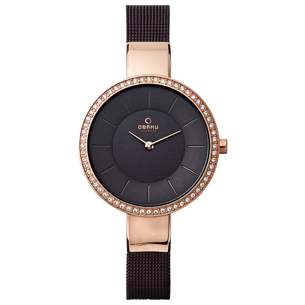 Obaku Sol Glimt Walnut Women's Wristwatch