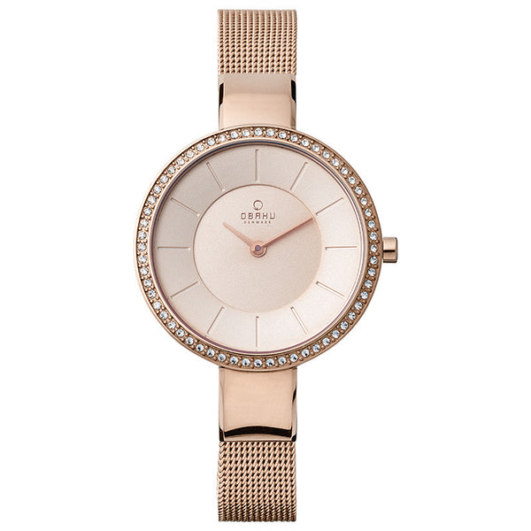 Obaku Sol Glimt Rose Women's Wristwatch