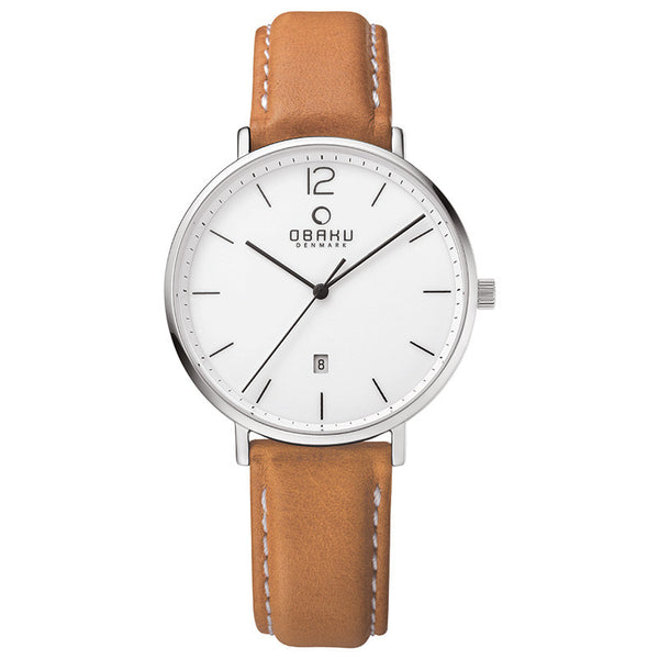 Obaku Toft Cognac Men's Wristwatch