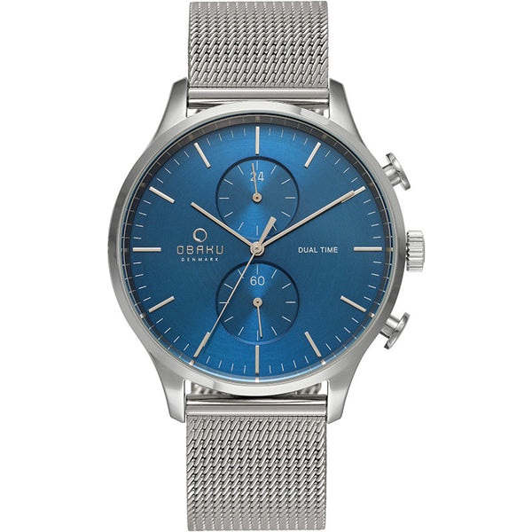 Obaku Men's Sunray Blue Wristwatch