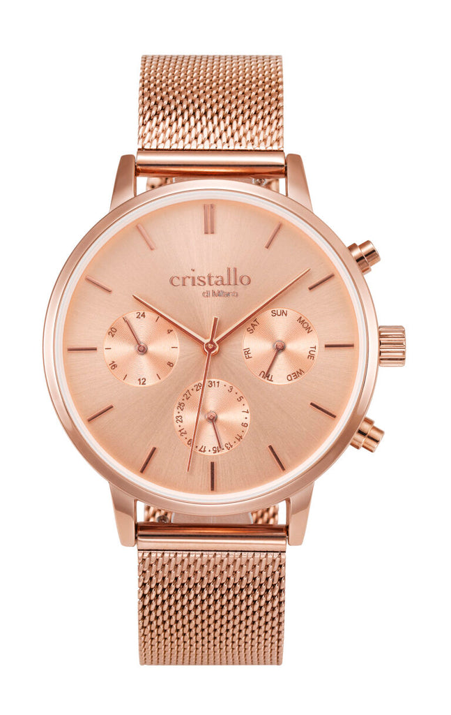 3 Dial Rose Watch