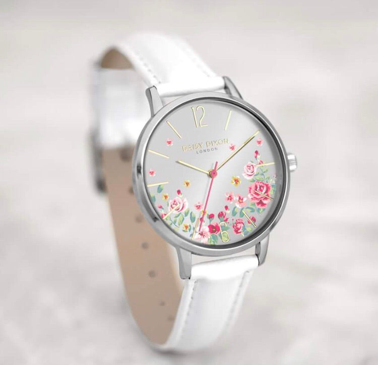 Daisy Dixon Floral Summer White Watch - Stevens Jewellers Letterkenny Donegal