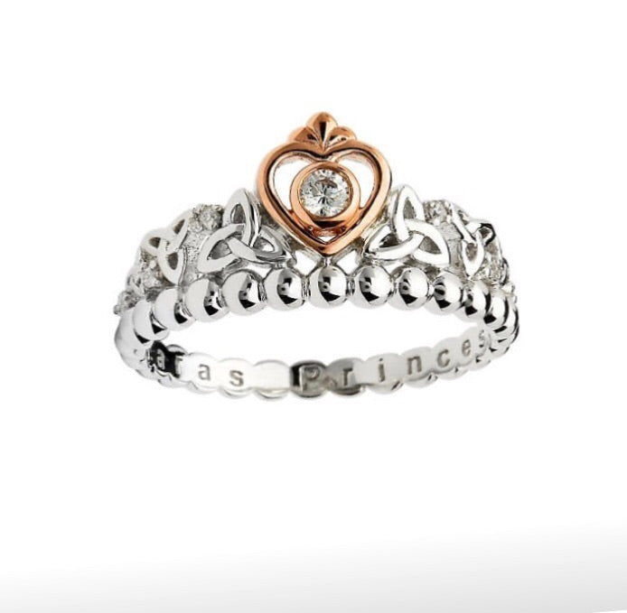 Sterling Silver Irish Princess Ring - Stevens Jewellers Letterkenny Donegal