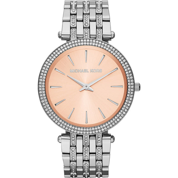 Michael Kors Darci Silver Rose Dial Ladies Watch - Stevens Jewellers Letterkenny Donegal