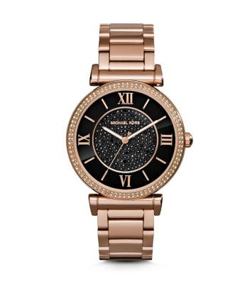 Michael Kors Ladies Catlin Rose Gold Plated Watch - Stevens Jewellers Letterkenny Donegal