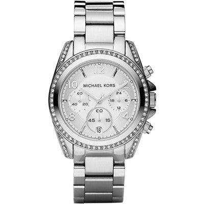 Michael Kors Blair Chronograph Stainless Steel Ladies Watch - Stevens Jewellers Letterkenny Donegal