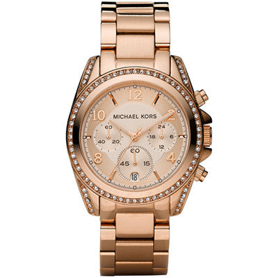 Michael Kors Ladies Blair Chronograph Rose Gold Watch - Stevens Jewellers Letterkenny Donegal